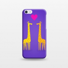 iPhone 5C  Couple in Love Purple by Philipp Rietz