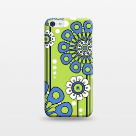 iPhone 5C  Blue Flowers by Shelly Bremmer