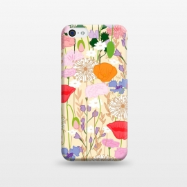 iPhone 5C  Wildflowers Cream Square by Zoe Charlotte ()