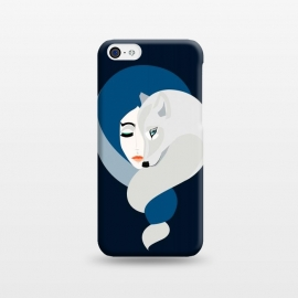 iPhone 5C  White Wolf by Stefania Pochesci