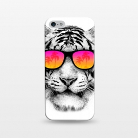 iPhone 5/5E/5s  The Coolest Tiger by Mitxel Gonzalez (tiger,cool, tigre,beach,summer,coolest,funny,big cat,cat)