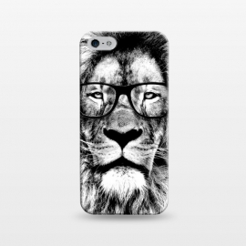iPhone 5/5E/5s  The King Lion of The Library by Mitxel Gonzalez (lion,hipster,glasses,funny,animal,roar,cool,leon)