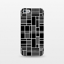 iPhone 5/5E/5s  Map Outline Black 45 White by Project M