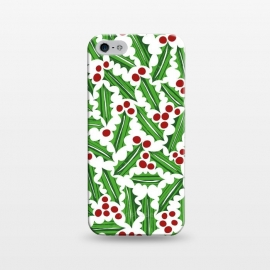 iPhone 5/5E/5s  Jolly Holly Red and Green Light by Kimrhi Studios
