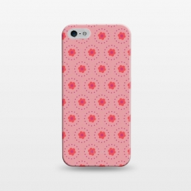 iPhone 5/5E/5s  Pink Circular Floral by Rosie Simons ()