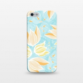 iPhone 5/5E/5s  Blumen Blue by Anchobee ()
