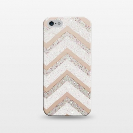 iPhone 5/5E/5s  Nude Chevron by Monika Strigel