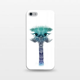 iPhone 5/5E/5s  Ostrich Strigel Blue Mint by Monika Strigel