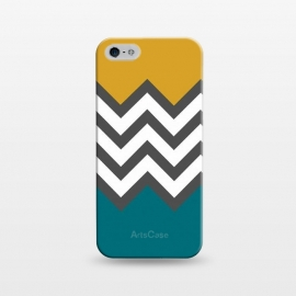 iPhone 5/5E/5s  Color Blocked Chevron Mustard by Josie Steinfort  ()