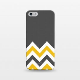 iPhone 5/5E/5s  Color Blocked Chevron Mustard Gray by Josie Steinfort  ()