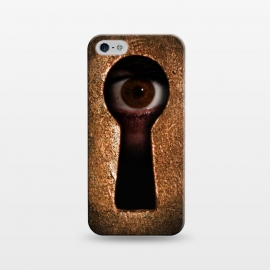 iPhone 5/5E/5s  Who is watching you by Nicklas Gustafsson (keyhole,eye,watching,big brother,surveilance,spy,paranoid,conspiracy)