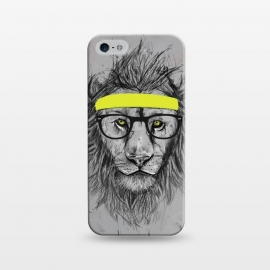 iPhone 5/5E/5s  Hipster Lion by Balazs Solti