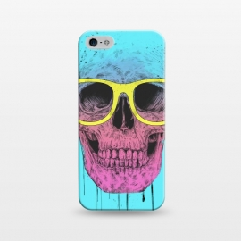 iPhone 5/5E/5s  Pop Art Skull With Glasses by Balazs Solti