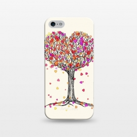 iPhone 5/5E/5s  Love in the Fall Heart Tree Illustration by Micklyn Le Feuvre
