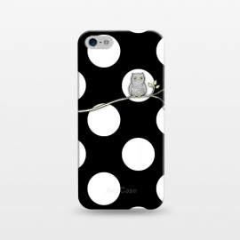 iPhone 5/5E/5s  Out on a Limb Polka Dot Owl Moon by Micklyn Le Feuvre ()