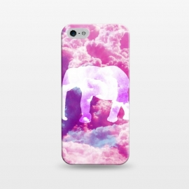 iPhone 5/5E/5s  Elephant on Pink Purple Clouds by Girly Trend ()