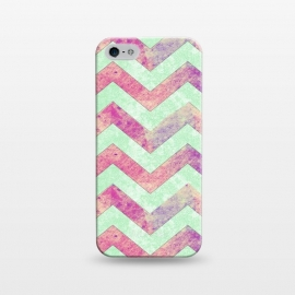 iPhone 5/5E/5s  Mint Pink Watercolor Chevron by Girly Trend ()