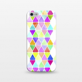 iPhone 5/5E/5s  Watercolor Abstract Pastel Triangles by Girly Trend ()