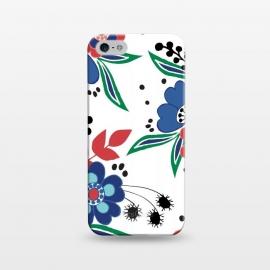 iPhone 5/5E/5s  BrightFolk by  (floral,flowers,flower,nature,folk,bouquet,pattern)
