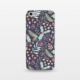 iPhone 5/5E/5s  Merry by Dunia Nalu (floral,star,stars,nature,pattern,christmas,holidays,women)