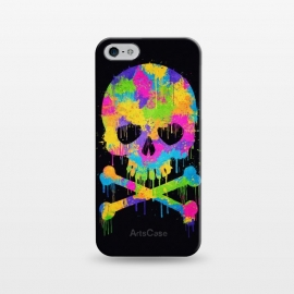 iPhone 5/5E/5s  Grafitti Watercolor Skull by Philipp Rietz