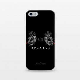 iPhone 5/5E/5s  Hearts Black Capicúa by W-Geometrics ()