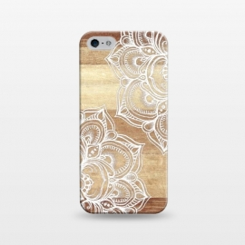 iPhone 5/5E/5s  White doodles on blonde wood by Micklyn Le Feuvre ()
