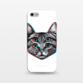 iPhone 5/5E/5s  3D Cat by Mitxel Gonzalez (cat,pussy,feline,cats,meow,miau,gato,3d)