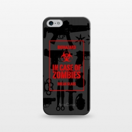 iPhone 5/5E/5s  In case of zombies break glass by  ()