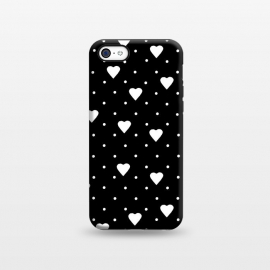iPhone 5C  Pin Point Hearts White by Project M