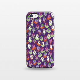 iPhone 5C StrongFit Spring Buds Purple by Kimrhi Studios ()