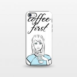 iPhone 5C  Coffe First  by Martina