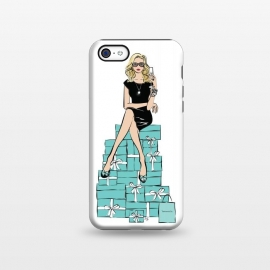 iPhone 5C  Tiffany's Blue Girl by Martina