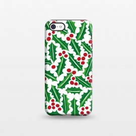 iPhone 5C  Jolly Holly Red and Green by Kimrhi Studios