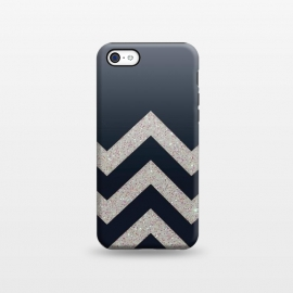 iPhone 5C  Chevron Block Silver Grey by Monika Strigel ()