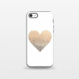 iPhone 5C  Gatsby Gold Heart by Monika Strigel ()
