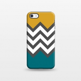 iPhone 5C  Color Blocked Chevron Mustard by Josie Steinfort  ()