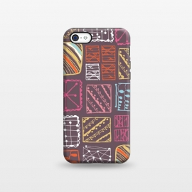 iPhone 5C  Doodle Squares by Rachael Taylor ()