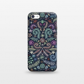 iPhone 5C  Colored Chalk Floral Doodle Pattern by Micklyn Le Feuvre ()