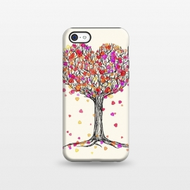 iPhone 5C  Love in the Fall Heart Tree Illustration by Micklyn Le Feuvre ()