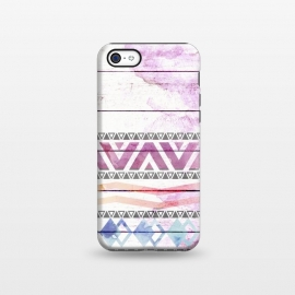 iPhone 5C  Aztec Wood Watercolor by Girly Trend