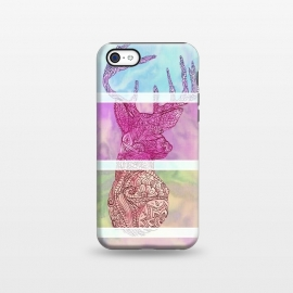 iPhone 5C  Deer Vintage Stripes Paisley Photo by Girly Trend