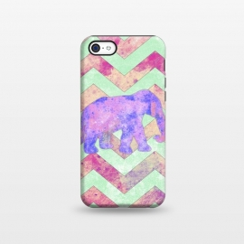 iPhone 5C  Elephant Mint Green Chevron Pink Watercolor by Girly Trend