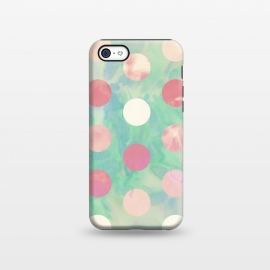 iPhone 5C  Polka Dots Watercolor Front by Girly Trend