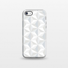 iPhone 5C  White Geometry by M.O.K.