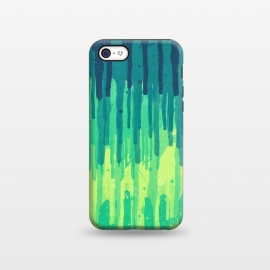 iPhone 5C  Green Grunge Color Splatter Graffiti Backstreet Wall by Philipp Rietz