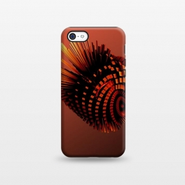iPhone 5C  Your Bronze Cyborg Heart by Adoryanti