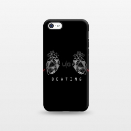 iPhone 5C  Hearts Black Capicúa by W-Geometrics