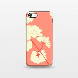 iPhone 5C  Blossoms Coral Square by Zoe Charlotte