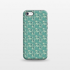 iPhone 5C StrongFit Cherry Blossom Aqua by Zoe Charlotte ()